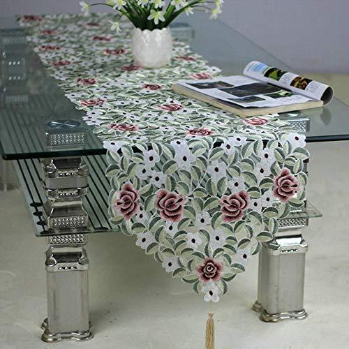 Ludage decorazione della tavola runner ricamati ricamo cava ispessimento