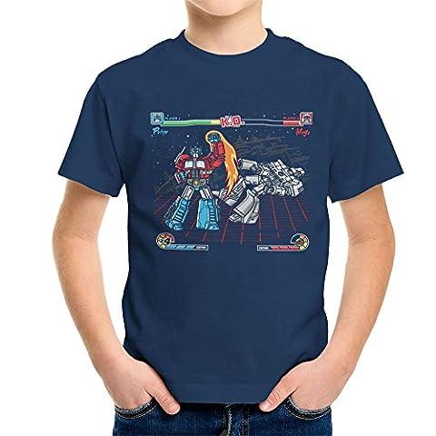 Mega Battle Optimus Prime Megatron Transformers Kid's T-Shirt