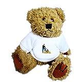 Teddybär mit einem T-Shirt mit der Grafik: Holzfäller