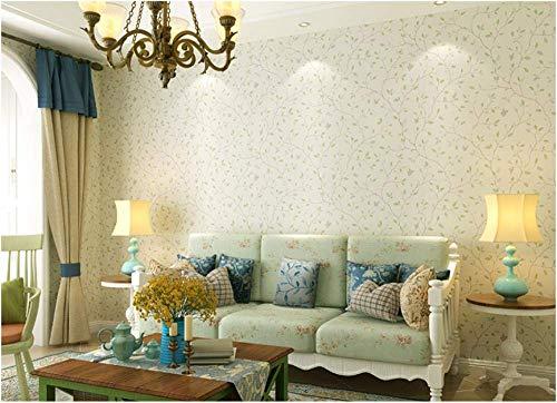 DX Tapete Frische Blätter Moderne minimalistische Vliestapete Schlafzimmer Friseur Laden Beauty Salon Study Wallpaper