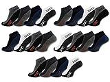 sockenkauf24 - Herren Sneaker Socken ACTIV Baumwolle 8/12 / 20 Paar Herrensocken Sportsocken - 16737 (43-46, 20 Paar - Farbmix)