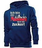 love-all-my-shirts Ich Bin aus Hamburg Nicht aus Zucker 4896 Fussball Hamburger Pullover Fanartikel Geburtstag Geschenk Weihnachten Herren Männer Fan Hoodie Navy XL