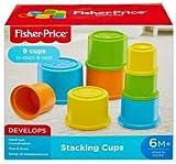 Fisher-Price GCM79 - Bunte Stapelbecher mit 8 bunten Becher, Baby Spielzeug ab 6 Monaten