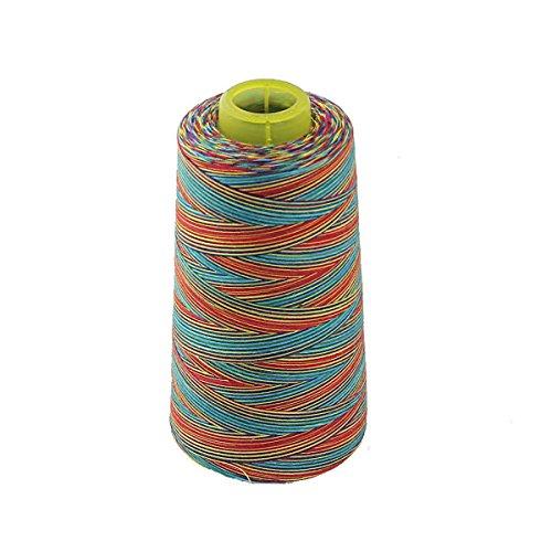 Pixnor Spule Polyester Nähgarn für Nähmaschine 40er/2 Multi-Color