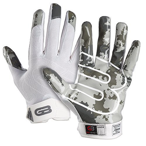 "Grip Boost Stealth ""Pro Elite"" American Football Receiver Handschuhe - weiß/camo Gr. L"