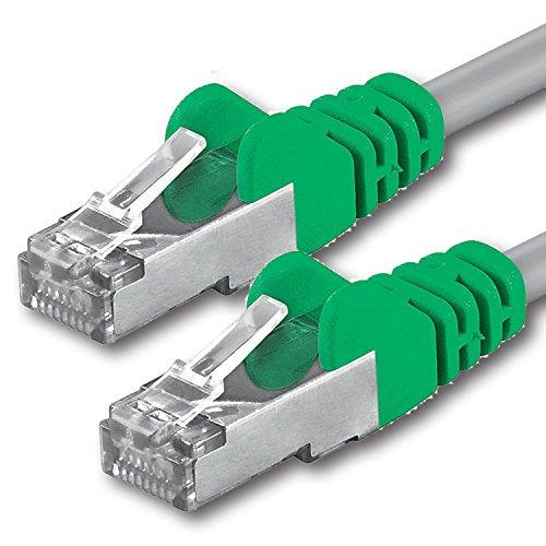 1aTTack CAT 5e Crossover FTP Netzwerk Patch-Kabel mit 2X RJ45 Stecker 1m -