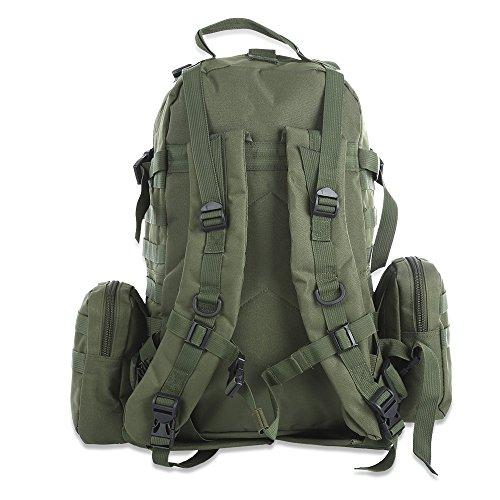 50L Outdoor Militare Molle Sacchetto Tattico Zaini Zaino Dell'annata Borse Campeggio Trekking Camouflage Resistente All'acqua 600D Green