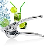 WisFox Professional Lemon Squeezer, Premium Quality Stainless Steel Lemon Lime Squeezer with High Strength, Manual Hand Citrus Press Lime Juicer with Heavy Duty Design, Anti-corrosive Dishwasher Safe – Silver