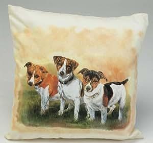 jack russel kissen christina b tzel hund hunde. Black Bedroom Furniture Sets. Home Design Ideas