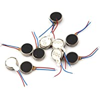 INVENTO 10pcs Coin Vibration Motor 1V to 6V 10x3mm Round Micro Vibration Motor for DIY Phone Toy