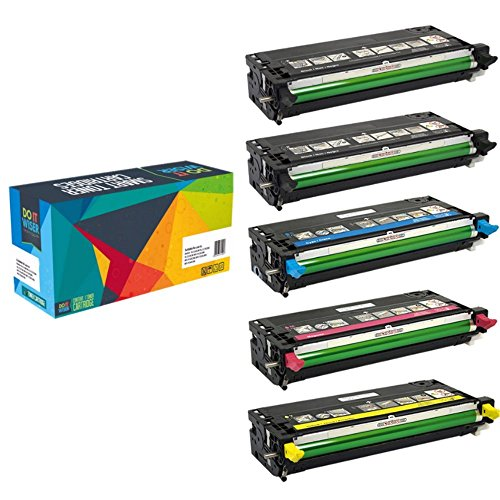 5 Do it Wiser ® XXL Kompatibel Toner für For Dell 3110 3110CN 3115 3115CN (Original Teilenummer Dell)