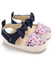 LanLan Zapatos de niños, Calzados/Zapatillas/Sandalias de niños Zapatos Antideslizantes Suela de algodón de Tela Suave para bebés Bebidas de Bowknot Zapatos de Princesa