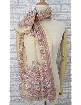Rosca de nata de la mujer imprimir 100% seda bufanda larga