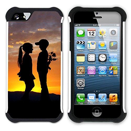 Graphic4You Liebe Herz Hart + Weiche Kratzfeste Hülle Case Schale Tasche Schutzhülle für Apple iPhone SE / 5 / 5S Design #29