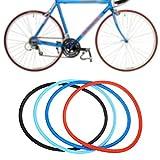 SolUptanisu Neumáticos Sólidos de Bicicleta,700 x 23c Neumáticos de Bicicleta sin Cámara Rueda Sólidos de Ciclismo de Bicicleta de Montaña de Carreras MTB BMX, Negro, Azul, Rojo(Azul Claro)