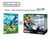 Nintendo Wii U Konsolen Premium Pack 32GB + Mario Kart 8 + The Legend of Zelda: Breath of the Wild.