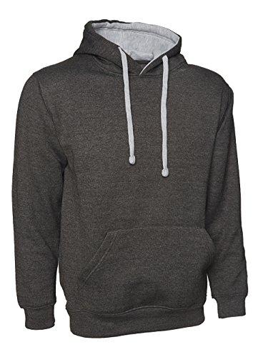 Sweat à capuche ample pour Sweat à capuche de couleur contrastée, taille 10 à 28) Multicolore - Charcoal with Grey
