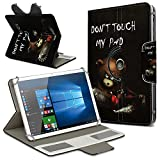 Robuste Schutzhülle für Ihr Archos Access 101 3G Tablet aus Kunstleder mit Standfunktion 360° Drehbar Hülle Schutztasche Ständer Tasche Cover Case Etui, Farbe:Motiv 1