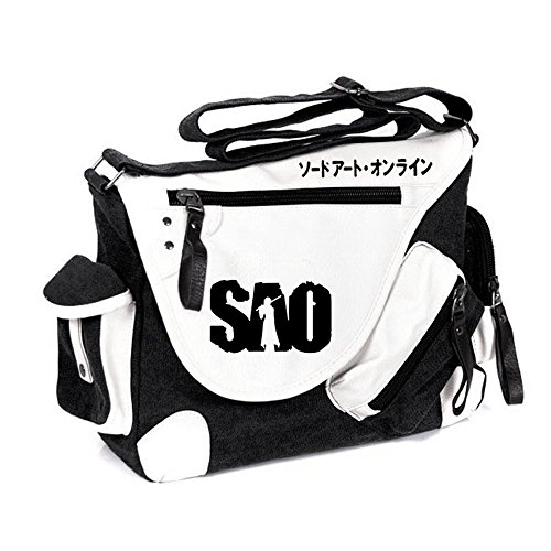 Siawasey anime giapponese Cosplay borsa Satchel zaino messenger bag borsa a tracolla nero One-Punch Man2 Sword Art Online