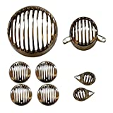 #4: AllExtreme Rear Customized Head light Heavy Grill Set Indicator, Parking, Tail Light Grill For Royal Enfield Classic350/500(Wooden Brown)