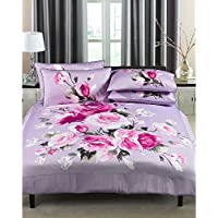 Riva Paoletti Paoletti Windsor Floral 100% Cotton Duvet Cover Set, Heather, King