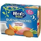 Hero Baby Buenas Noches Noches Verduritas con Pavo - Paquete de 2 x 190 gr - Total: 380 gr - [Pack de 6]