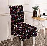 CHSKFFW Bunter Druckstuhl bedeckt Spandex-elastische weiche Abdeckungen Anti-Schmutz-speisender Stuhl-Abdeckungs-Fall für Bankett-Partei MJ042 8 universal Sizes