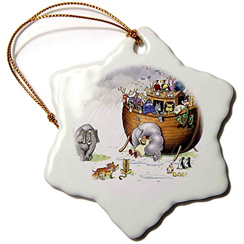 Tamengi Biblical Noahs Ark - Porcelain Snowflake Decorative Figure, 7,62 cm