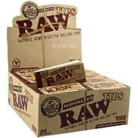 RAW Caja entera precintada de filtros cáñamo y algodón naturales (caja de 50 filtros)