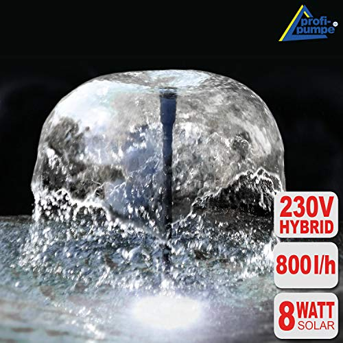 """El kit inteligente """"Oasis 810-H""""-Hybrid con conexión de 230V - la sensación de vida en su estanque!    El sistema de la bomba innovativo le garantiza años de placer! Tiene una duración de vida de más de 60.000 horas, en los cuales usted puede adm..."""