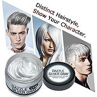 Cera Cabello Para Pelo Gris Plata, Crema Para Colorante Pelo Temporal, Y.F.M Silver Gray Hair Color Wax 4.23 onzas