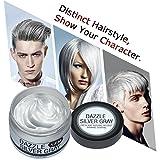 Einmaliges Haarfärbemittel Y.F.M. Silbergrau das Haar selbst färben einfach das Haar glitzern machen auch die Funktion von Haarwachs haben