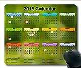 2019 Kalender Mauspad Kalender, Kalender jährlich Gaming-Mauspads, Kalenderplaner 2019 mit Feiertagsdetails