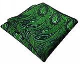shlax&wing - Corbata - Paisley - para hombre verde verde botella Talla única