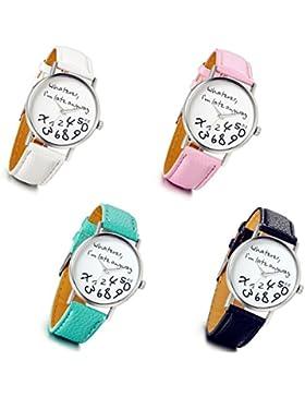 lancardo Kinder Rosa Weiß Schwarz Grün Pink Sport digitale Armbanduhr (4Stück)