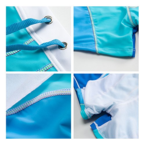 Dolamen Uomo Costume da Bagno Boxershorts, Mare Piscina Sport Slip Tronchi di Nuoto Pantaloncini Calzoncini Mutande, Con il Drawstring regolabile dentro Blu