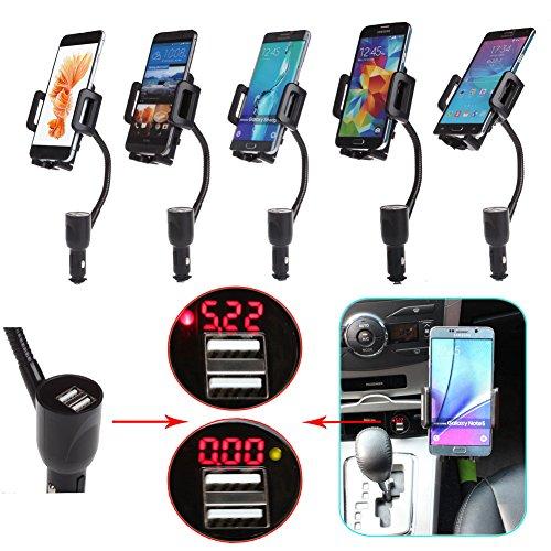 Doppia porta USB Caricabatteria accendisigari supporto dell'automobile doppia porta USB
