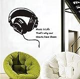 Die besten Budget Kopfhörer - zhangsh Persönlichkeit Wandaufkleber Musik Leben Kopfhörer Wandaufkleber Kinderzimmer Bewertungen
