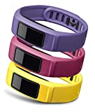 Garmin Energy Lot de 3 bracelets Jaune/Rose/Violet Taille L