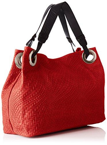 Chicca Borse 80059, Borsa a Tracolla Donna, 38 x 28 x 10 cm (W x H x L) Rosso