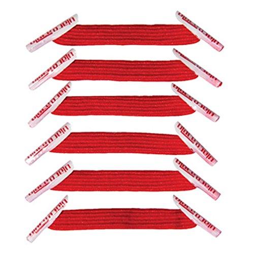 Pack Rouge 2 sachets lacets élastiques U-LACE (SCARLET)