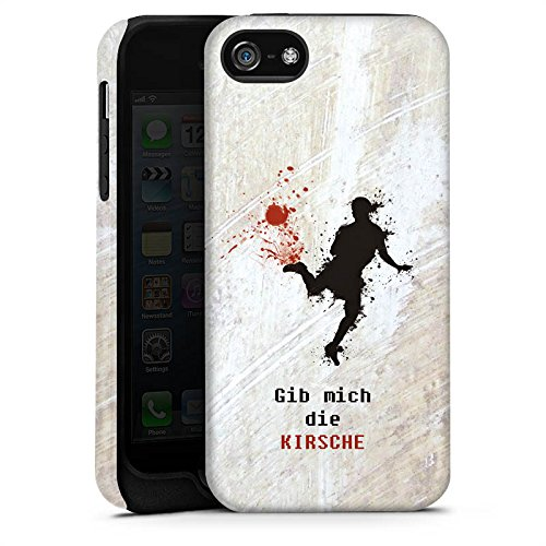 Apple iPhone X Silikon Hülle Case Schutzhülle Fußball Spruch Sport Tough Case matt