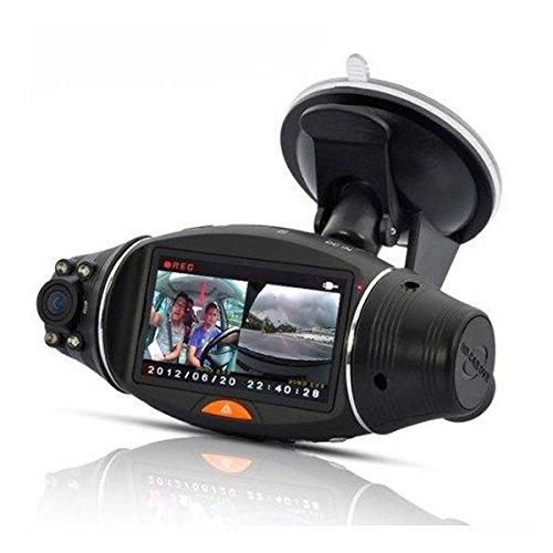 GOZAR R310 Auto Dvr Dual Lens Dash Kamera Gps G-Sensor Recorder 2,7 Zoll