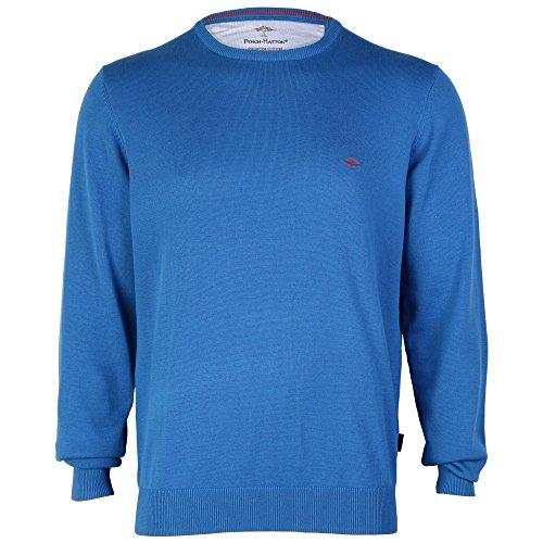 Fynch Hatton O-Neck Contrast Mens Jumper Blue, Pink & Red