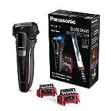 Panasonic ES-LL41-K503 Hybrid-Rasierer, 3-in1-Rasierer zum Rasieren, Trimmen und Stylen schwarz