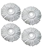 #10: Royal Export Microfiber Spin Mop Refill (White, Pack of 4)