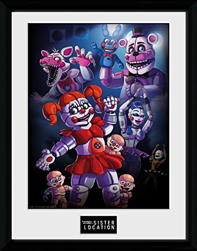 GB eye Five Nights At Freddy's, Sister location Group Framed Print, Multi-Colour, 30 x 40 cm