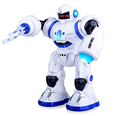 Kuman Smart Robot RC Remote Control Robotic Toys Walking Singing Dancing Programmable Gesture Sensing, Touch Sensing and Missile Launcing for Kids Gifts and Entertainment KR3 von Kuman