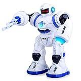 Kuman Robot Intelligent RC Télécommande Jouets Robotique Marche Chant Danse Gestuelle Programmable Détection, Détection Tactile et Lancée Missile pour Enfants Cadeaux et Divertissement KR3