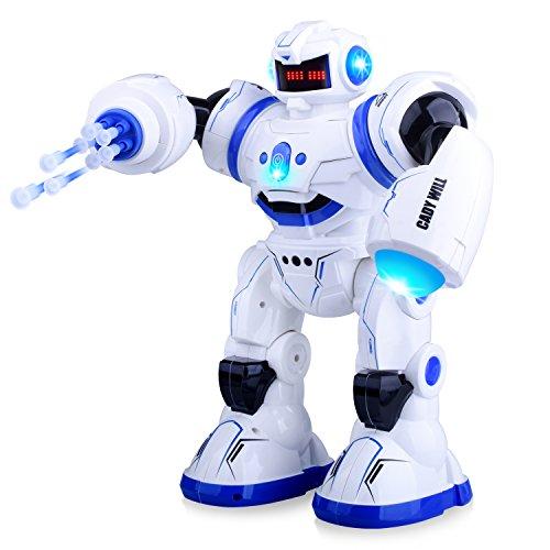 Kuman intelligente Roboter RC Fernbedienung Steuern Roboter Spielzeug zu singen Tanzen programmierbare Geste Spüren, Berühren Spüren und Raketen Launingfür Kinder Geschenke und Unterhaltung